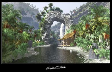 Tropical Stream by c-ramgfx