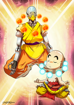 OW - Zenyatta and Krillin by oNichaN-xD