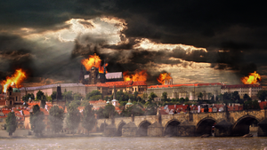 Prague on fire by tholec