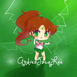 Sailor Jupiter Chibi Sticker by Kairui-chan