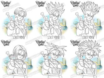 lineart trunks all form by Naruttebayo67