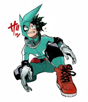 My Hero Academia Boku no Hero Izuku Midoriya Color by Amanomoon