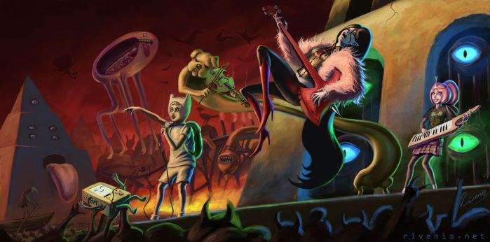 Rockin' Out In The Nightosphere by Rivenis