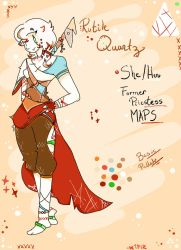 Red Rutile Quartz Official Ref (CURRENT) by SAtheWriter