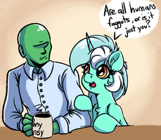 Human Horse and Anon by WitchTaunter