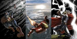 Sample covers for Marvel by caiocacau