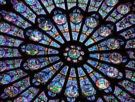 Stained Glass at Cathedral by laughcrylive