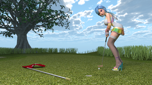 Asobi Girl at the Golf Course by cwichura