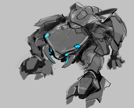 Droid Doggy WIP by devilddriver