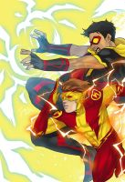 N52 Vibe and Kid Flash by onlyfuge