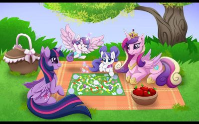 Mother And Daughters Day Royal Picnic  by MontiRedDragon