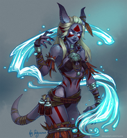 WoW: Repakuku the Shaman (nsfw optional) by ryumo