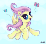 30 minute challenge:  Fluttershy by The-Paper-Pony