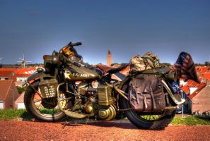 US Army Harley Davidson by TLO-Photography