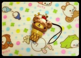 Bear Icecream Cone Charm by kneazlegurl125