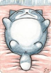 ACEO Sleeping cat by Siriliya