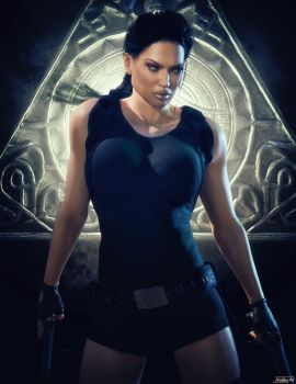 Lara Croft Tomb Raider Posterstyle by Hubby72
