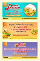 Campaign Banners: Domain and Burgers by CzaGarcia