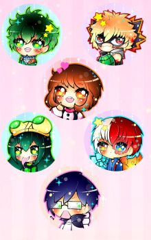 BNHA Button Set by xxMiniPandaxx