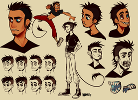 Monster AU - Alex sketchpage by Sylthian