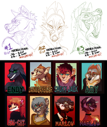 YCH BADGE AUCTION OPEN! by LiLaiRa