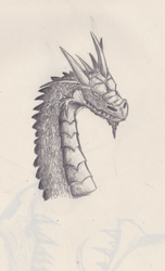 Dragon head by Crooked-Raven