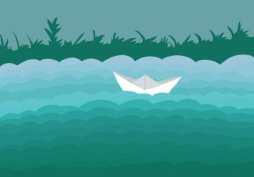 Floated Paper Boat by xytonmoy