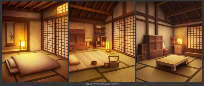 Japanese Rural Hut Bedroom by CiCiY