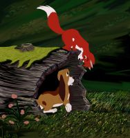 The Fox and The Hound by Elendar89