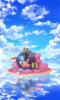 In The Clouds + Speedpainting by Yonrei