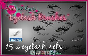 Eyelash Brush ABR Photoshop Brush set eye lashes by MakeMeMagical