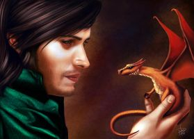 Vladin and the baby dragon. by eddidit