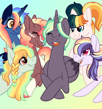 The Best Colorful Gals by Pawscratch