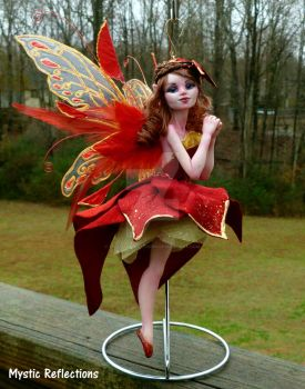 Poinsettia Christmas Myxie ornament by MysticReflections