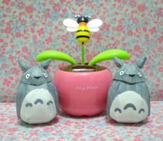 Mini Totoro by drawwithme15
