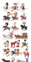 Horse culture around the world by akabeko
