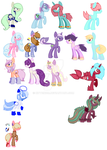 Pony Breedables and Adoptables by kitten226