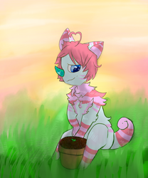 Watching The Lil Plant Grow (CHIMEREON PROMPT) by KristiIsMe