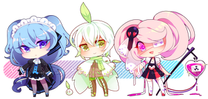 [Set Price] Assorted Chibi Adoptables [CLOSED] by bitter--coffee