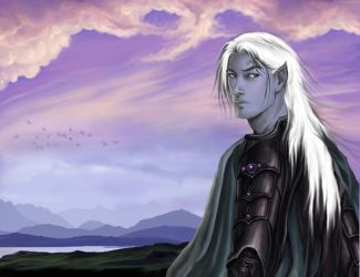the lone Drow by Aqvila