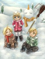 Christmas Card 2016 - FMA - Snow by oOFlorianeOo