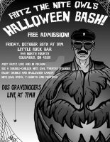 Fritz the Nite Owl's Halloween Bash by monsterartist