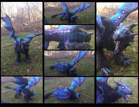 -SOLD- Handmade poseable Mystic Dragon by KaypeaCreations