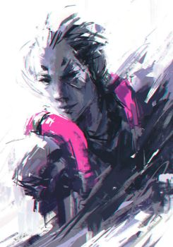 Moira Gear Solid 2 (Overwatch) by Alex-Chow