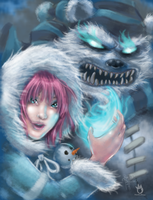 Frostfire Annie and Tibbers by sykoeent