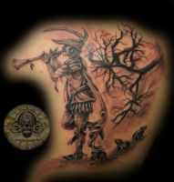 pied piper of hamelin by 2Face-Tattoo