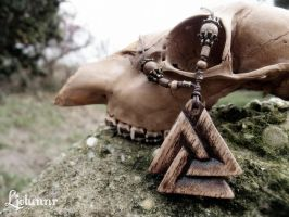 Valknut necklace - Odin's knot by Ljotunnr
