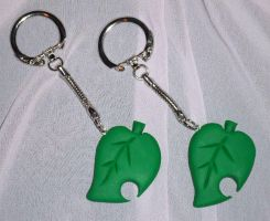 Animal Crossing Leaf Charms by Magelet