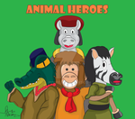 Animal Heroes Book Cover by Jpolte