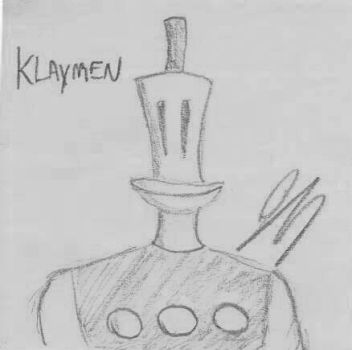 Klaymen Sketch by aliendrone47